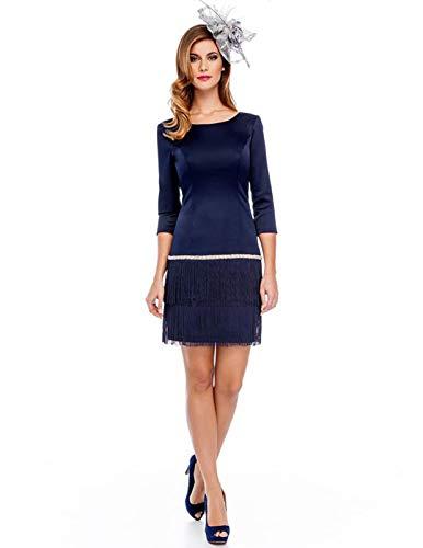 Vestido Olimara Azul 12160334 para Mujer 44 Azul