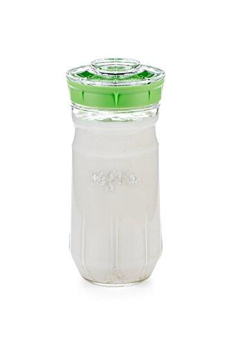 Kefirko – Das ideale Set für Milchkefir oder Wasserkefir zu Hause, 1,4 (grün)