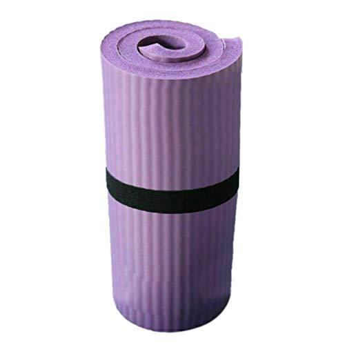 FDNFG Estera de Yoga Yoga Pilates Mat Grueso 15mm Durab Ejercicio Equipmet Rodilla Pad Antideslizante Yoga Mat Principiante Ambiental Aptitud colchonetas for Gimnasia (Color : Purple)