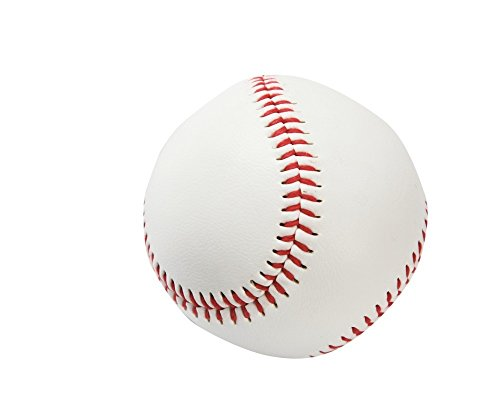 Bodyline Palla da Baseball in Pelle Bianca Cuciture in Cotone