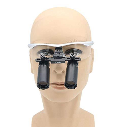 6X Quirúrgico Binocular Lupas Vidrio Óptico Kepler Dental Quirúrgico Médico Lupa Marco De Gafas Altas Lupas, 420Mm Distancia De Trabajo