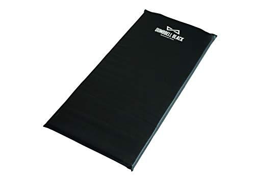 Colchonete de Exercícios em Espuma Densidade 23 Dumbbell Black - Tamanho 90cm x 43cm x 3cm - Impermeável - Costura Reforçada - Fitness Funcional - Treino em Casa - Ginástica
