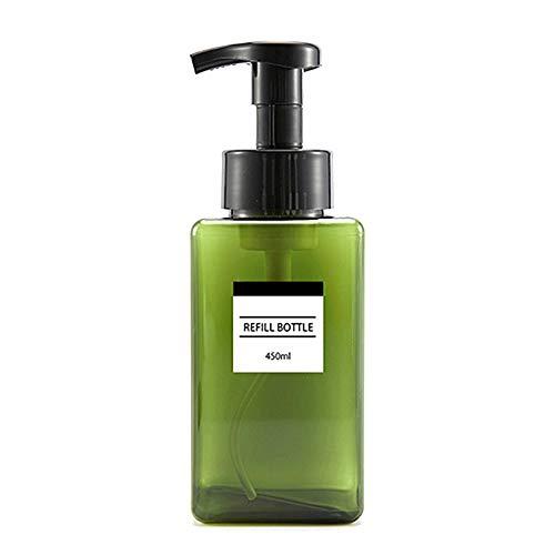 Litty089 Distributeur de savon rechargeable 250 ml 250 ml, Vert 450 ml., Green 450ml
