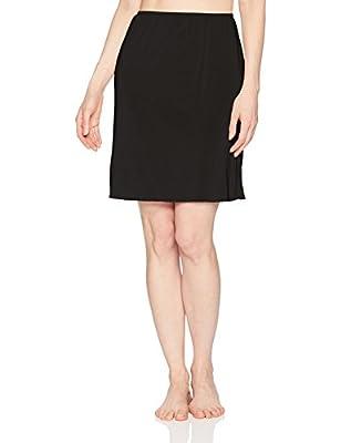 Jones NY Women's Silky Touch 19 Anti-Cling Above Knee Half Slip, Black, L from Jones NY