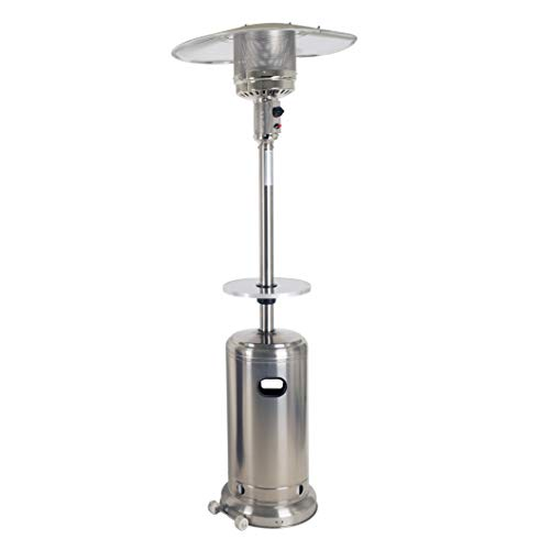 Dyna-Glo DGPH102SS-TAB Deluxe Stainless Steel Patio Heater with Table, Silver