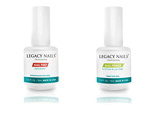 LEGACY NAILS Nail Prep & Nail Primer .5oz each