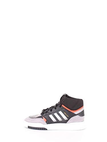 adidas Sneaker High Schwarz Jungen Sportschuhe Laufschuhe Turnschuhe Hausschuhe Schnursenkel Dropstep J Leder - 35,5 EU