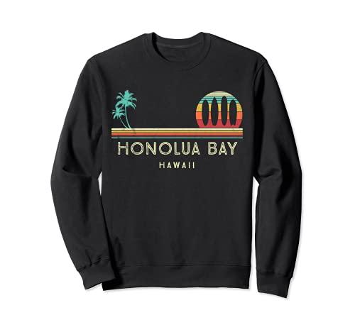 Vintage Hawaii Honolua Bay - Palmeras Tropical - Surf Sudadera