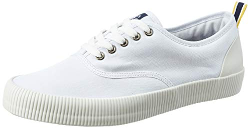 Amazon Brand - House & Shields Men's White Canvas Sneakers-7 UK (AZ-HS-040C)