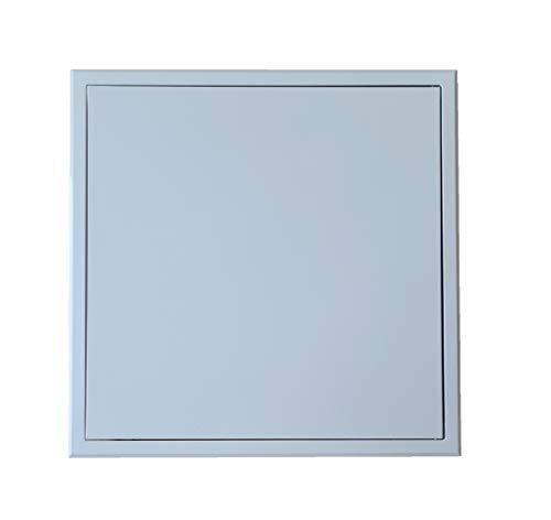 Panel de Acceso Hecho de Metal Galvanizado en Color Blanco con Recubrimiento en Polvo RAL 9016, Trampilla de Inspección de Forma Cuadrada, Puerta de Acceso de Cartón Yeso. (30 x 30 cm)