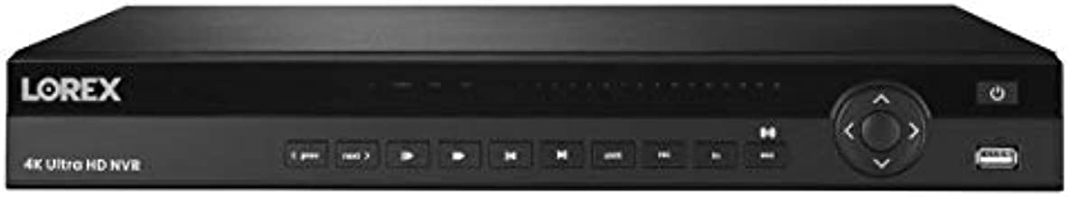 Lorex N882A38B 32 Channel, 16 PoE Port, 4K 2x4TB IP Ultra HD Pro Series Security System NVR with Lorex Cloud Connectivity, Audio, Multiple Recording Modes, Black (Recorder Only)