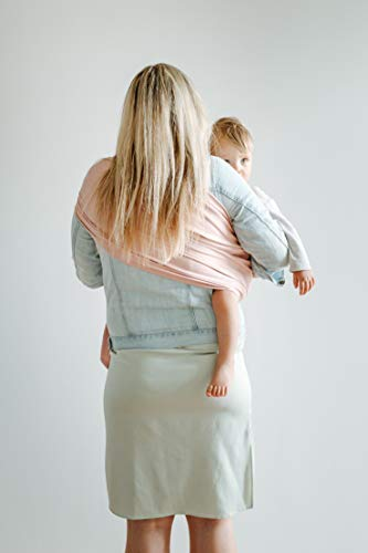 Shabany® – Ring Sling Tragetuch – 100% Bio Baumwolle – Für Neugeborene Kleinkinder bis 15 KG – inkl. Baby Wrap Carrier Anleitung – rosa (cuddles) - 4