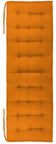 Brandsseller Cojín para banco, para interior y exterior, 27 puntadas, aprox. 120 x 40 x 4 cm