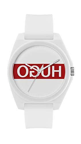 Hugo Damen-Uhren Analog Quarz One Size Weiß Silikon 32005902