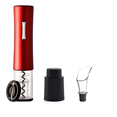 Abridor de botellas automáticas para vino tinto cortador de lámina eléctrica abrelatas de vino tinto abrelatas accesorios de cocina accesorios de cocina abrebotellas de gadgets (Color : Red set)