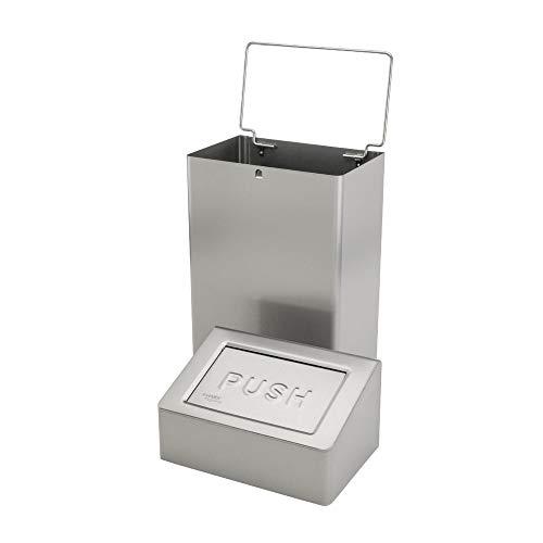 OPHARDT Hygiene 1417450 SanTRAL ABU 18 E AFP Abfallbehälter mit Beutel Halter, 18 Liter, Edelstahl gebürstet