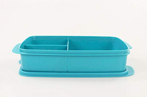 Tupperware to Go Lunchbox 1 L dunkeltürkis mit Trennwand Clevere Pause Schule 34467