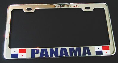 Maan Panama Vlag Chrome Heavy Duty License Plaat Frame Tag Houder Perfect voor Mannen Vrouwen Auto garadge Decor