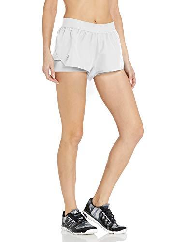 adidas Pantalón Corto Club para Mujer, Mujer, Corto, FRO16, Blanco/Plateado Mate/Negro, XXS