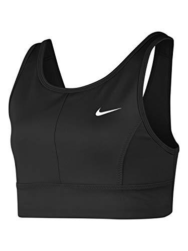 Nike Mädchen Swoosh Luxe Sport-BH, Schwarz-Weiss, XL
