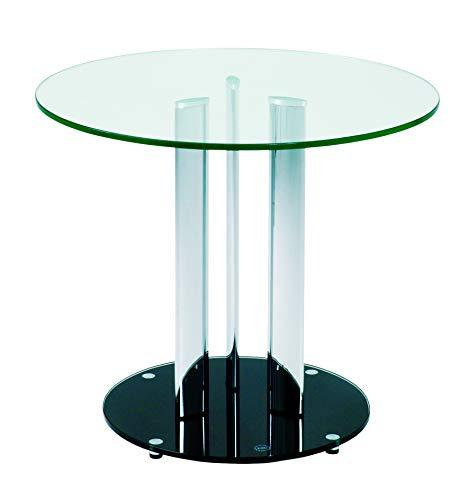 Haku Möbel 87567 mesa auxiliar 54 x 59 cm, cromo / negro