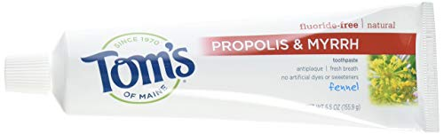 Toms of Maine Toothpaste Fennel Propolis Myrrh,5.5 Ounce...