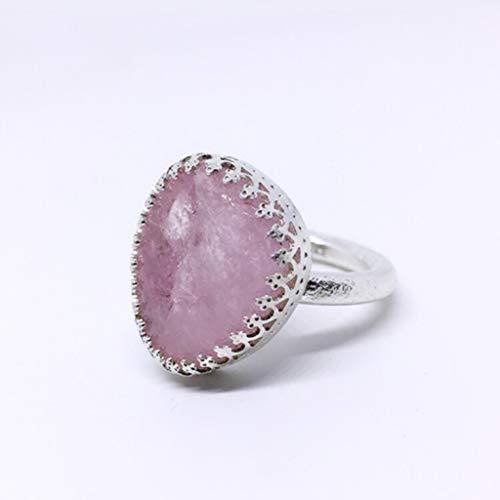 Espectacular anillo en plata de ley con excepcional Morganita rosa natural de 19.8 quilates de medidas (20 mm x 25 m x 8 mm). Anillo en Plata de ley.