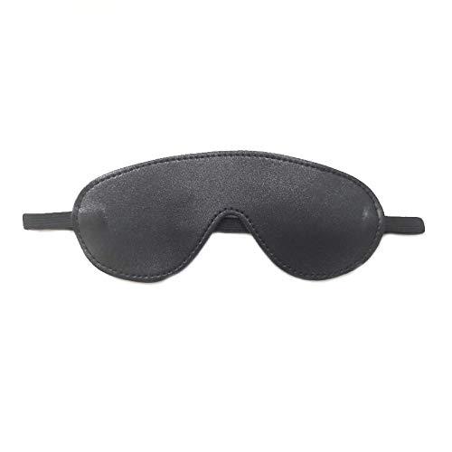 MCAA 2 Augenmasken PU-Leder-Augenmaske geeignet zum Schlafen Maskerade etc.