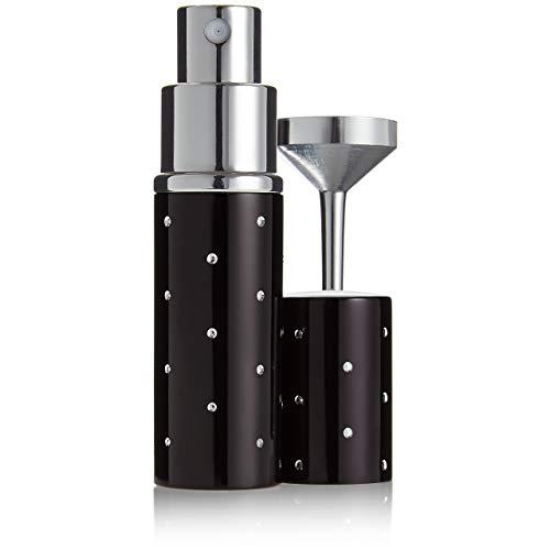 Fantasia - 46065 - Vaporisateur de poche avec entonnoir argenté dans pochette cadeau - Contenance 10 ml - Noir