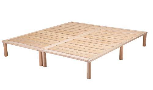 Gigapur G1 29739 Bett | Bettgestell mit Lattenrost | Birke Natur Schicht-Holz | belastbar bis 195 kg je Element | 200 x 200 cm best. aus: 2 x 100 x 200cm