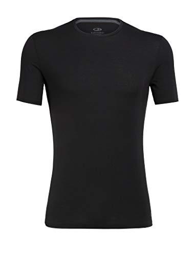 Icebreaker Herren Funktionsshirt Anatomica SS Crewe Unterhemd, schwarz-Black/Monsoon, M