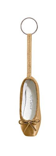 So Danca Schlüsselanhänger KCE01 in Form eines Ballettschuhes mit Schlüsselring - Farbe gold