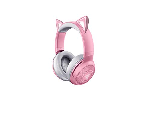 Razer Kraken BT Kitty Edition: Bluetooth 5.0-40ms Low Latency Connection - Custom-Tuned 40mm Drivers - Beamforming Microphone - Powered by Razer Chroma - Quartz Pink Best Selling