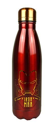 hi-lo Marvel Avengers Iron-Man Trinkflasche Sport-Flasche Kinder Erwachsene Camping Edelstahl Rot, 26cm groß 780ml