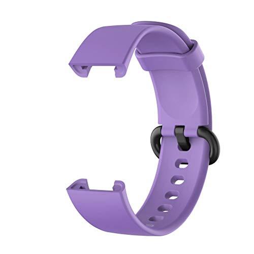 Cinturino, Cinturino in Gomma siliconica per Orologio Intelligente Xiaomi Mi Watch Lite/Redmi Watch Lite, Viola