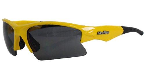 Strike Coole Sportbrille/Sonnenbrille mit Halbrahmen 210 gelb