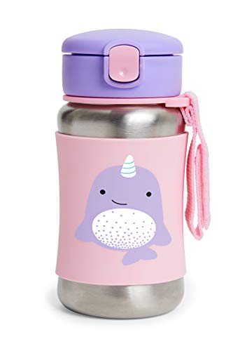 Best Price! Skip Hop Zoo Stainless Steel Straw Bottle - Narwhal