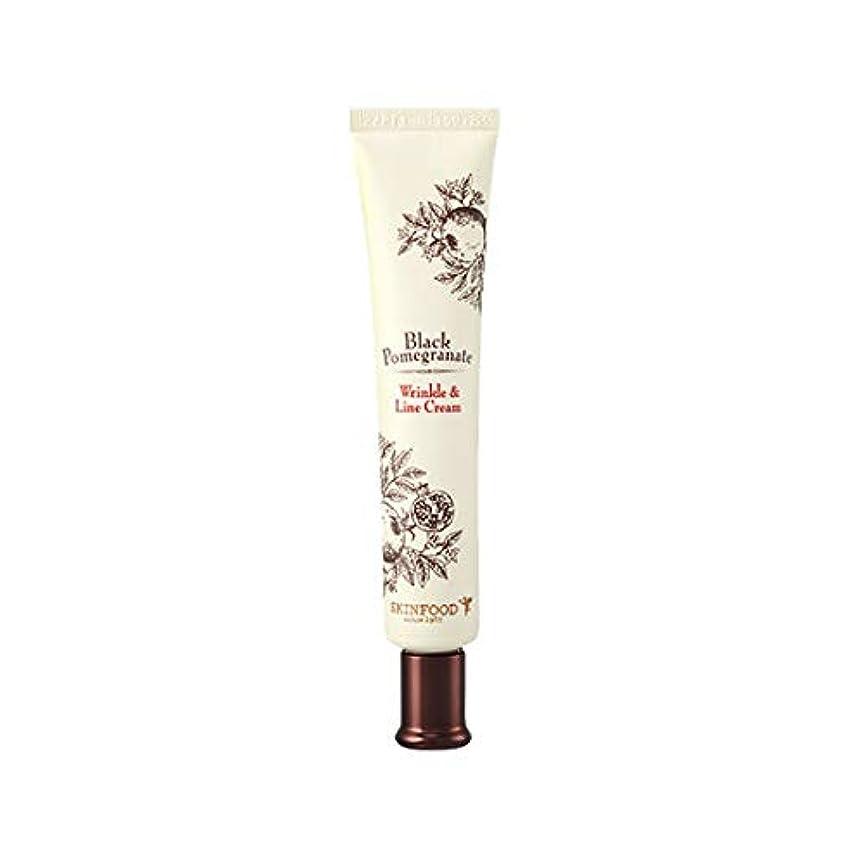 徹底。敬の念Skinfood 黒ザクロシワ&ラインクリーム(シワ防止効果) / Black Pomegranate Wrinkle & Line Cream (Anti-Wrinkle Effect) 30ml [並行輸入品]