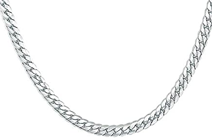 Amaal Jewellery Latest Silver Necklace Chains Chain for Men Boys Boy Friend Gents Mens -CN-A209