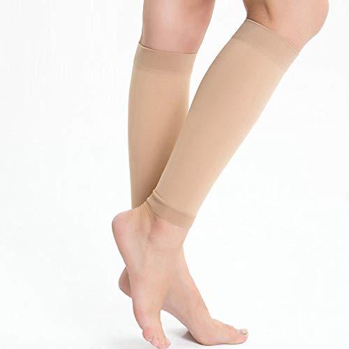 1 Paar Medizinische Kompressionsstrümpfe Socken Lindern Wadenschmerzen Schwellung Krampfadern (Color : Skin, Size : L)