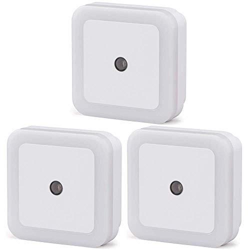 アイリスオーヤマ LEDセンサーライト 足元灯 階段・廊下・寝室など ACプラグ式 明暗センサー付 3個入り コンパクト 工事不要 簡単取付 屋内用 LSLL-AC20IS 電球色