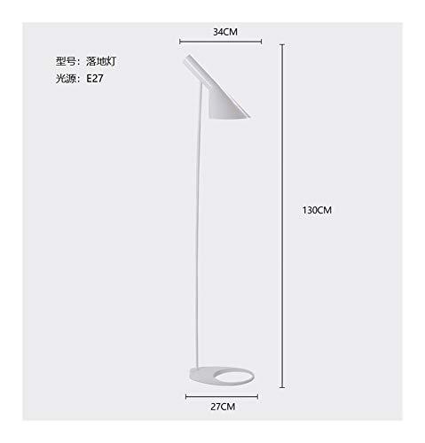 JSJJARF Lampara de pie Diseño nórdico Arne Jacobsen Lámpara LED E27 Lámpara de pie iluminación Blanca Negro (Lampshade Color : White Floor Lamp)