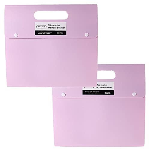TOMOP 2 organizadores de documentos A4 expansibles para archivar documentos de acordeón, caja de archivos, 6 bolsillos para casa, oficina, escuela, empresas, archivos, almacenamiento