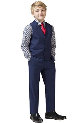Pierre Cardin Boys' 2-Piece Vest Set with Pants (7, 2-PC Navy Vest and Pants)