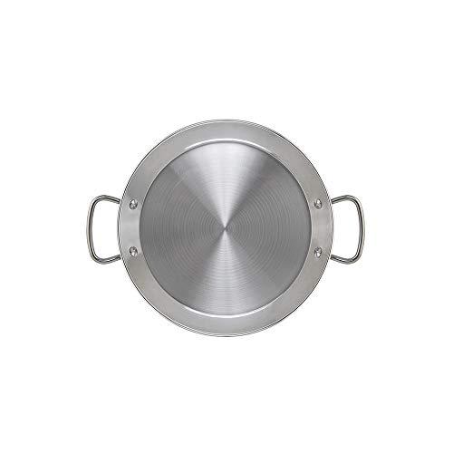 Metaltex - Paellera INDUCCION Acero Inoxidable 3 Raciones (28 cm)