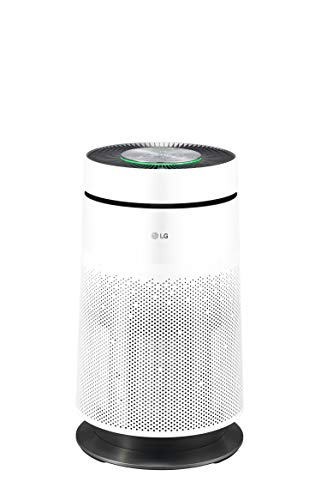 LG PURICARE 360 Single AS60GDWV0 Luftreiniger 360° mit HEPA-Filter 13, WiFi, ThinQ, Ionisator Plasmaster, Luftqualität und Gase und Clean Booster-Funktion, Weiß