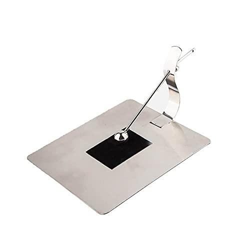 PINGDONGHANG 1 pieza de papel estante de mesa de madera envejecida servilleta vertical de metal titular de la servilleta de la flor de los sostenedores de la