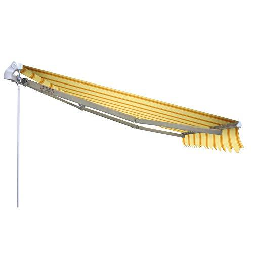 VERDELOOK Tenda da Sole Itaca avvolgibile ad inclinazione fissa, larghezza 3 m e sporgenza 2 m, beige e ocra
