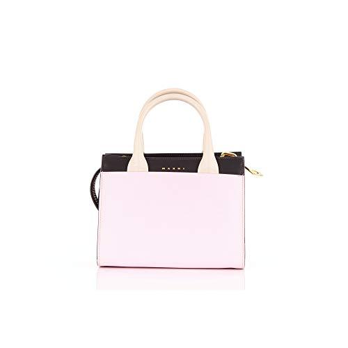 Marni BMMP0000Q5LV589 Bolsos de mano Mujer Negro y rosa UNI