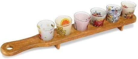 Home Cloud Shot Glass Serving Tray for Drinking, Serving, Display and Storage - for Restaurant, Bar, Party, Family...